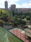tennis courts and park right on site