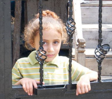 a beautiful little Turkish girl