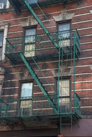 fire escape on the LES, New York City