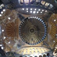 the ceiling at Hagia Sofia