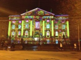 another light show at Trinity