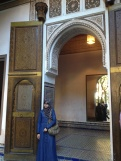 a tourist waits by the king's receiving room