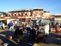 in the Jemaa al-Fnaa square.