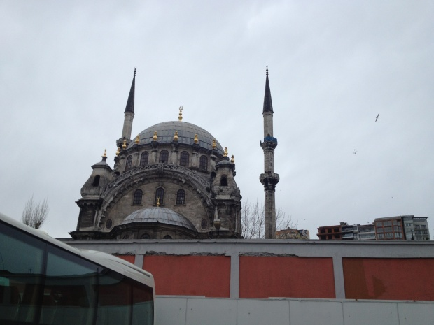 Mosques are everywhere - this is the Nusretiye Cami, seen from the Istanbul Modern's parking lot.