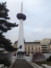 this statue is for the rebirth of Romania, to commemorate the revolution of 1989