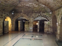 the kastel, an underground bathing, praying, resting place