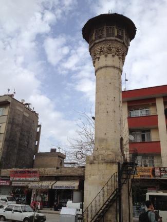 a minaret in town