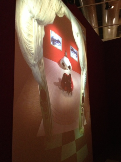 Look closely - this is a reflection of a room set up by Dali