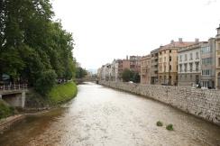 river through Sarajevo