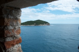 a guardhouses's view of Lokrum island