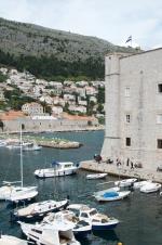 marina and city walls