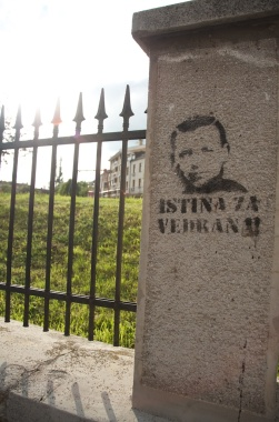 Sarajevo - this guy is stenciled all over the place
