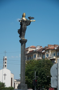 a recently added statue to the city's moniker