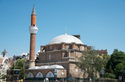 the mosque, across from the bathhouse