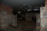 one of the Roman gates to the city, found in a pedestrian walkway under the government buildings