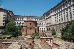 St. George Rotunda, an old Roman church, smack dab in the middle of the presidential complex