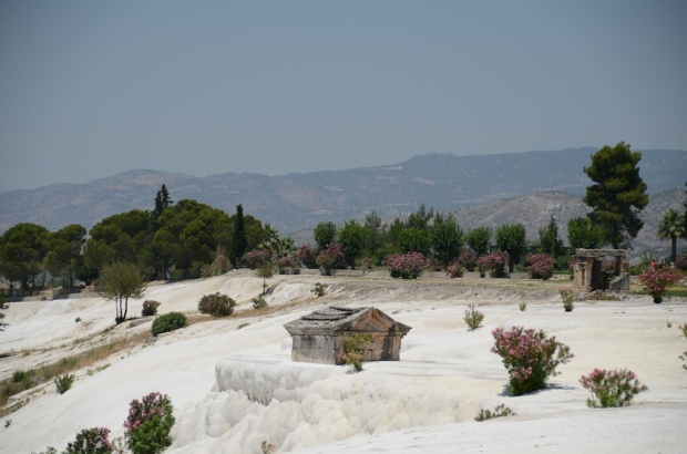 A great combination of an old tomb and the travertine pools