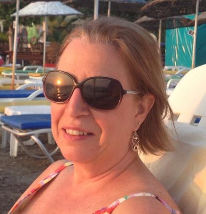 sunset on Mom's glasses