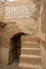 some frescoes and even stairs remain