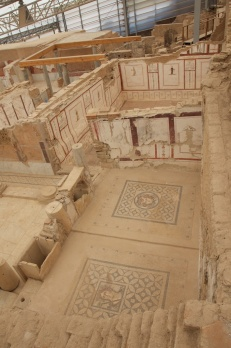 this apt had mosaics, frescos, and even it's own private Roman bath chambers
