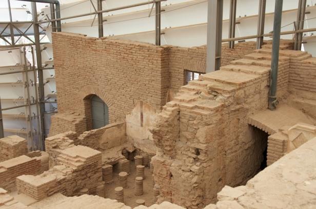 the underside of a caledarium (hot bath)