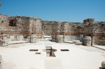 the baptismal area