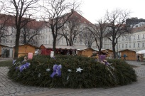 the town's giant advent wreath