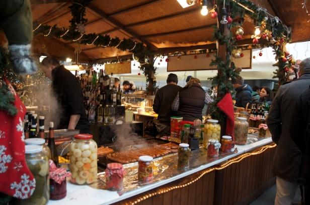 a full stall selling hot pork!