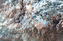volcanic formation up close