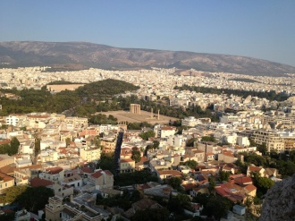 The Temple of Zeus from the hill