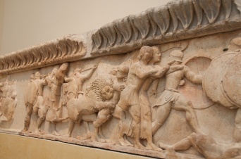 the frieze from a fallen treasury