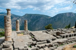 the floor plan of Temple of Apollo