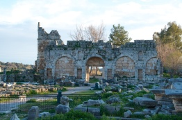 in the Roman era, a wealthy family converted it into an ornate city gate