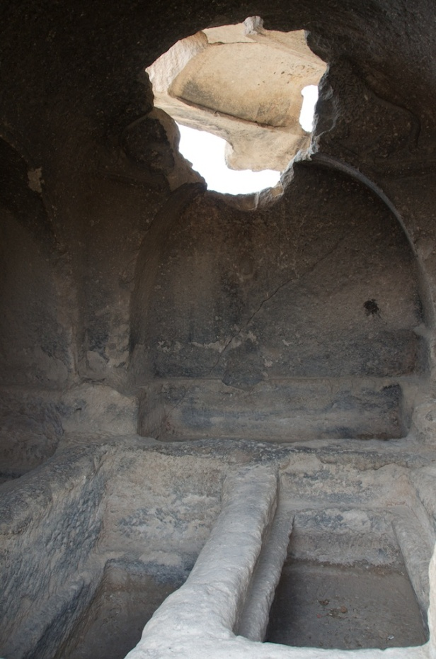 inside a tomb - generally they held several corpses