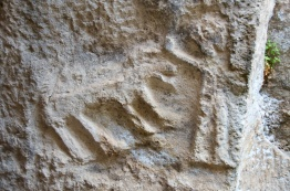 this carving is inside one of the cisterns