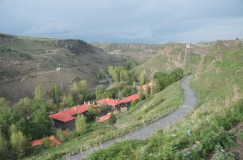 hills near Kars - the red roof buildings are part of the Kackas University