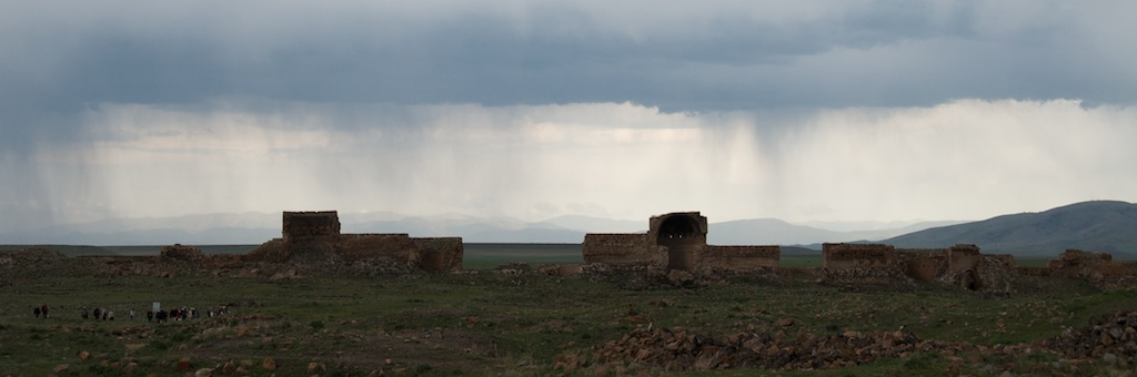 Rain on the east side of Ani