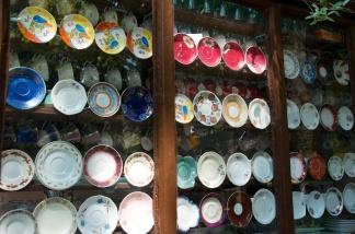 teaware diplayed at a tea shop