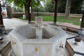 fountain outside for ablution