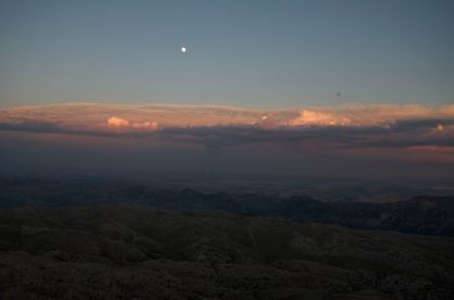 view to the east from Mt. Nemrut