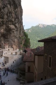 the view from a monk's walkway