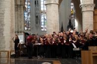 a choir practicing in the grand church