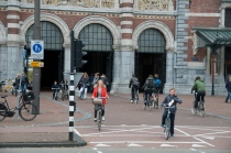a particularly fierce bike lane, by the Rijksmuseum