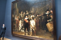 The famous Night Watch, by Rembrandt. It's the first group painting that includes a lot of action. The more time you spend looking at it, the more details you will see.