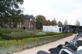Behind the museum is this peaceful garden with an animated fountain